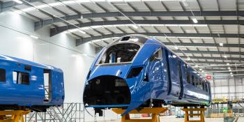 Bodyshell for Class 803 at Hitachi's Newton Aycliffe factory.