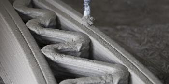 Concrete being 3D printed