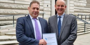 RIA Chief Executive Darren Caplan and Chairman David Tonkin outside the Treasury