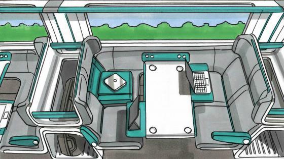 An impression of future train interiors