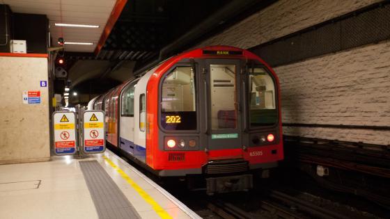 A Waterloo & City Line train