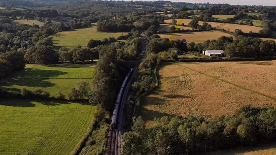 A Southeastern train passes Churchsettle, where work will take place during the October half-term.